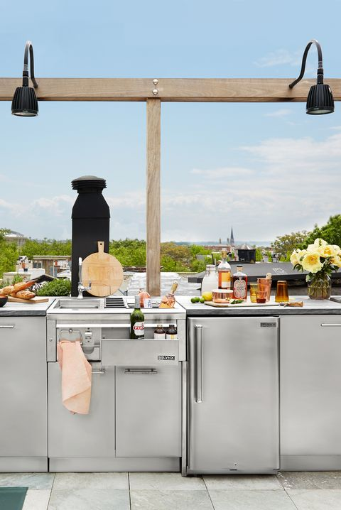 rooftop outdoor kitchen design