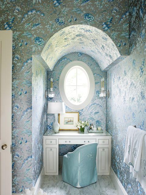 formal bathroom wallpaper