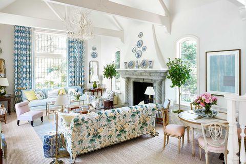 White, Room, Blue, Living room, Furniture, Property, Interior design, Home, Building, House,