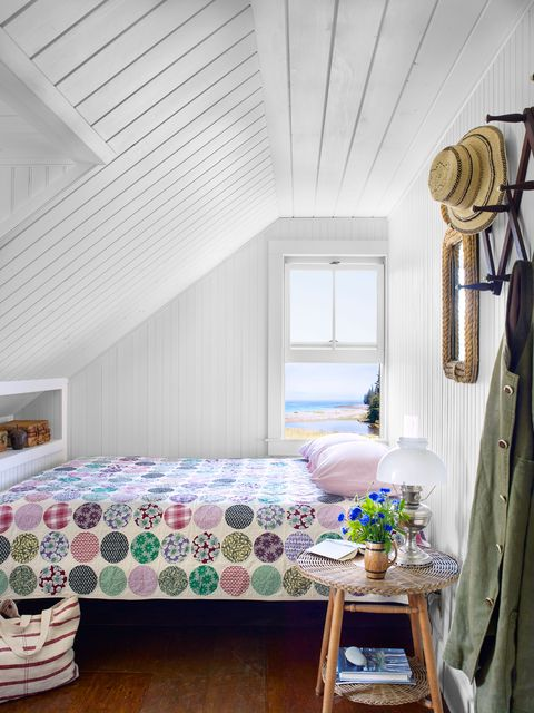 bed in small room