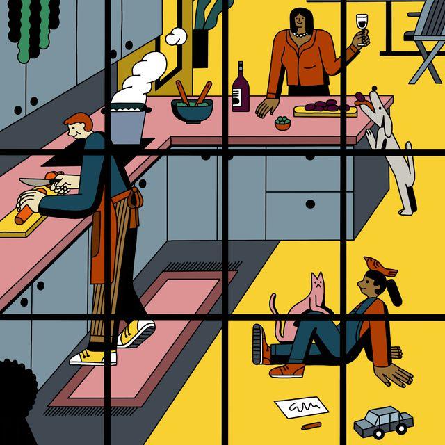 kitchen illustration,