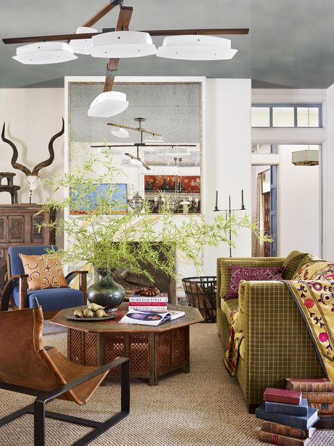 contemporary family room designed by meredith mcbrearty in fort worth