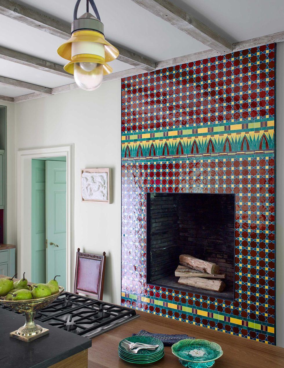 Mosaique pour foyer