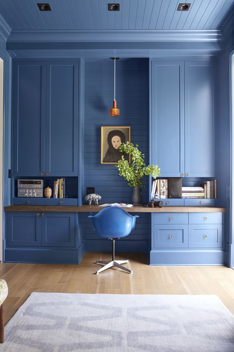 Blue, Furniture, Room, Interior design, Floor, Cabinetry, Chest of drawers, Property, Ceiling, Wall,