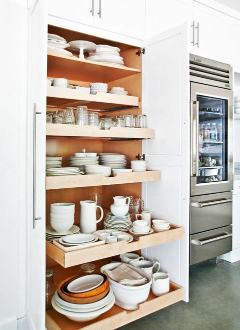 A Designer Trick for Maxing Out Kitchen Cabinet Storage