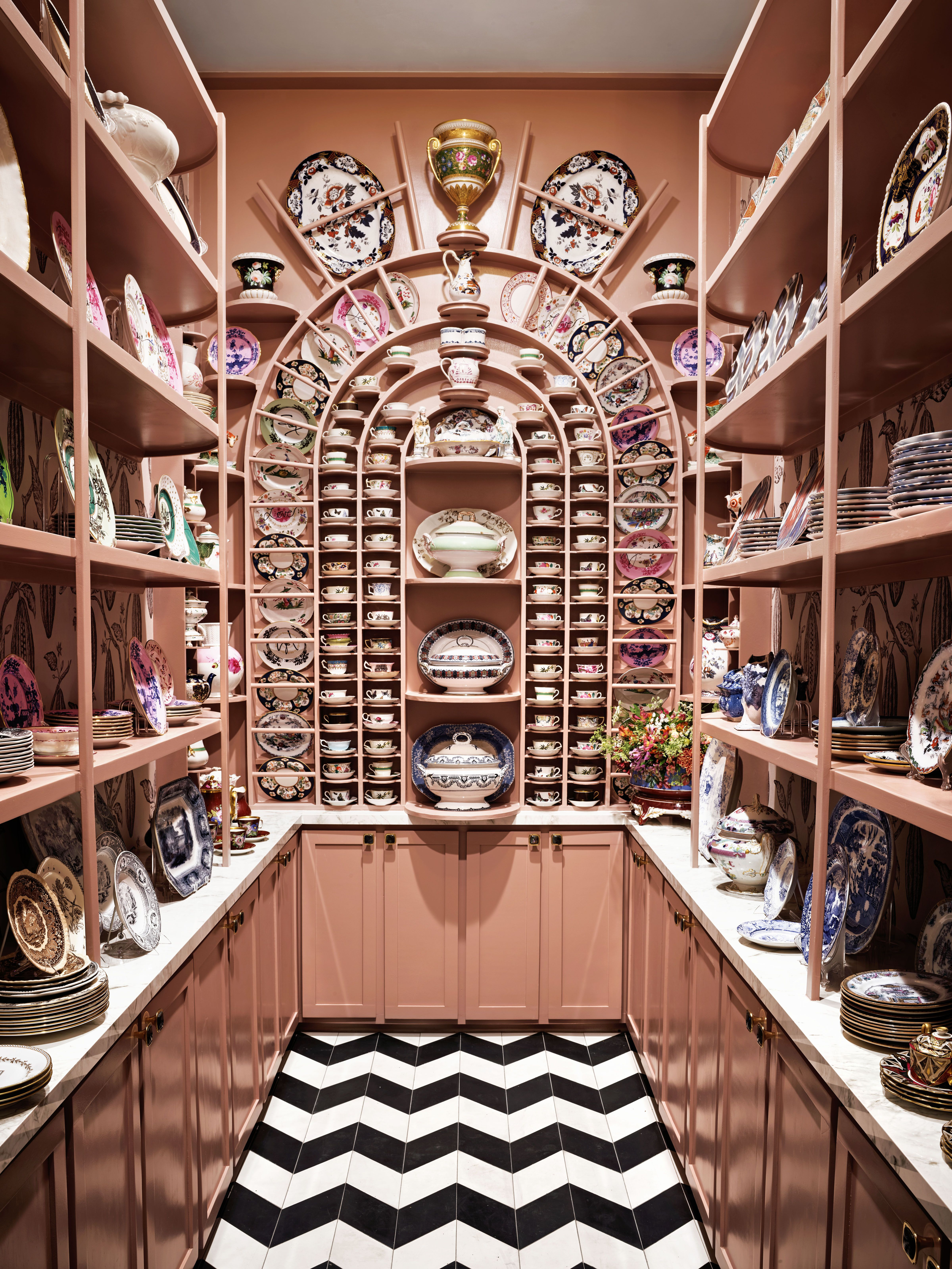 Michelle Nussbaumer's Fantastical Pink Pantry Is the Stuff of Legend