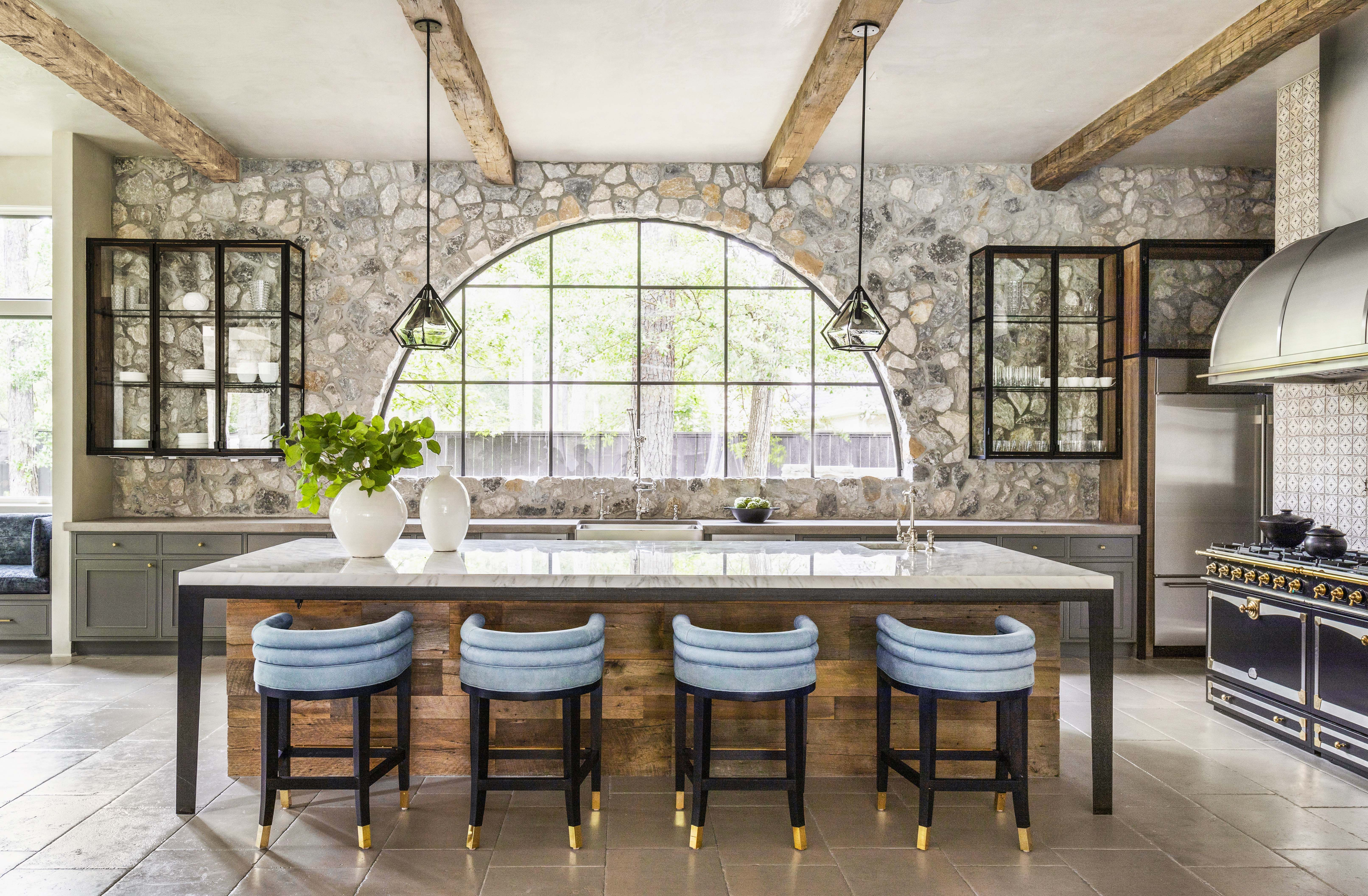 Nina Magon S Vision For This Houston Kitchen Started With An Accent Wall