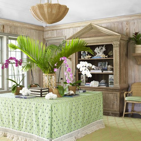 Green, Interior design, Property, Room, Furniture, Wall, Table, Building, Floor, House,