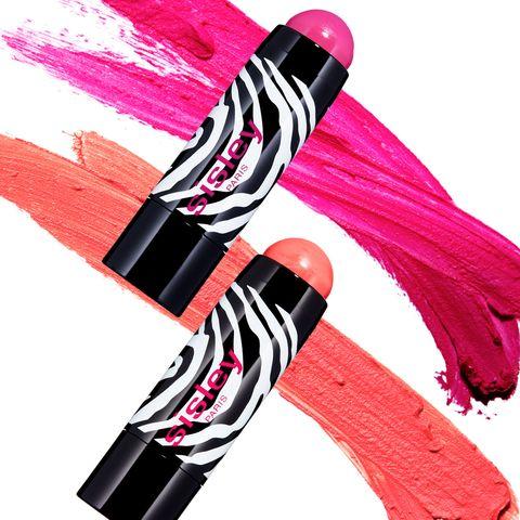 Musical instrument accessory, Pink, Magenta, Violet, Costume accessory, Fashion design, Sock, Strap,