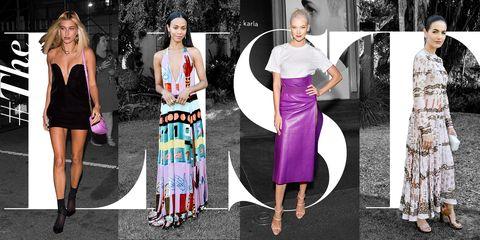 Clothing, Dress, Pink, Fashion, Fashion model, Purple, Street fashion, Formal wear, Magenta, Fashion design,