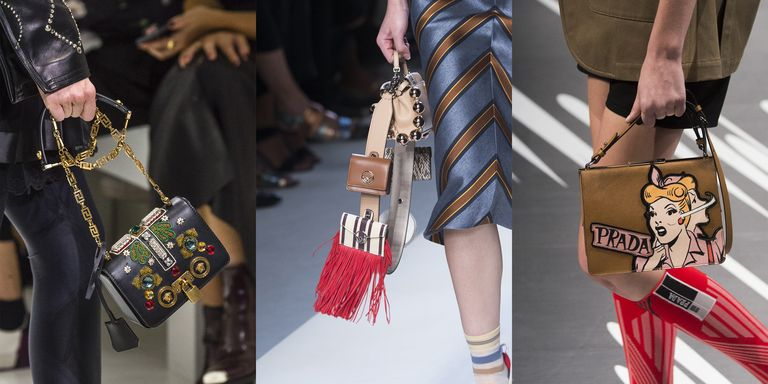 From Stylish Packs To Upgraded Straw Carryalls And Fringe Galore The Bagting Spring 2018 Runways Are Statement Making In Their Own Right