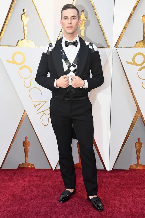 Adam Rippon Wears a Harness on The Oscars Red Carpet