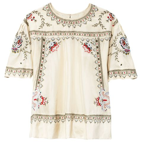 Clothing, White, Sleeve, Blouse, Neck, Top, Outerwear, Beige, Textile, Dress,