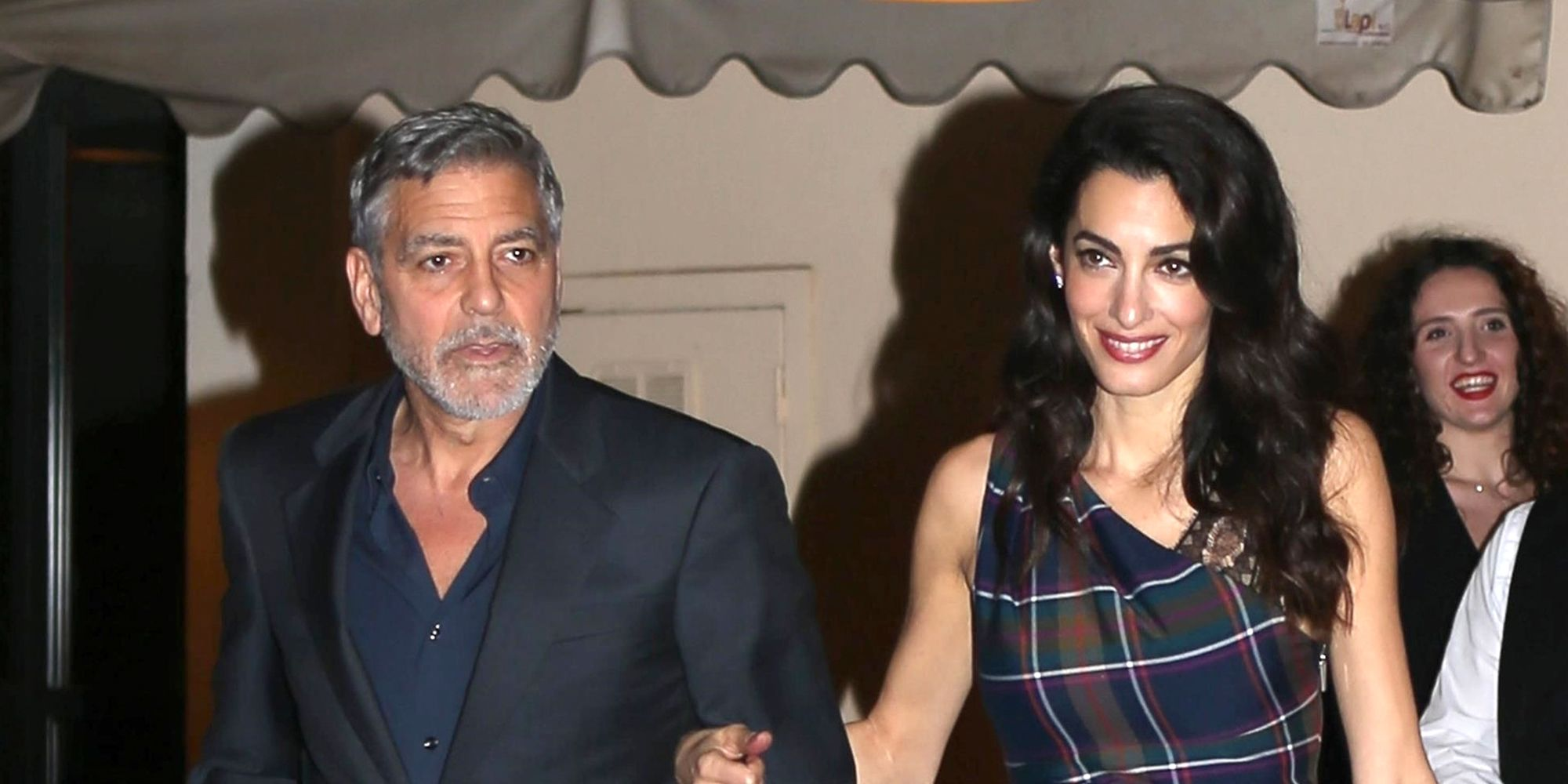 George Clooney and his wife Amal Clooney   cut sophisticated figures when in Rome!