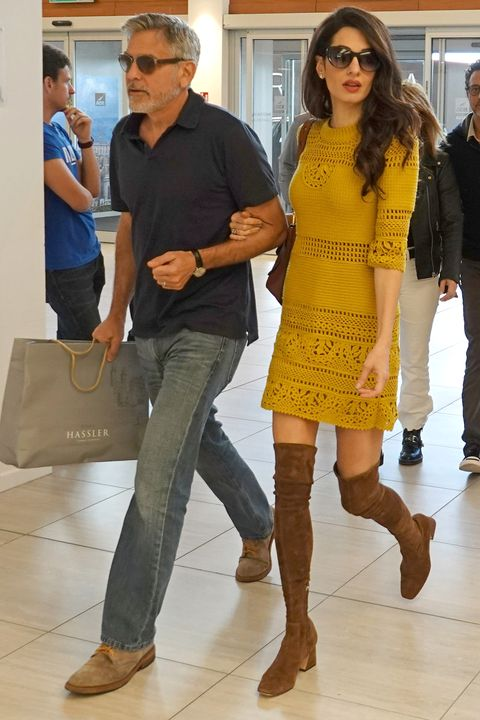 EXCLUSIVE: George Clooney and Amal Alamuddin leave from Rome Ciampino airport on a pivate flight