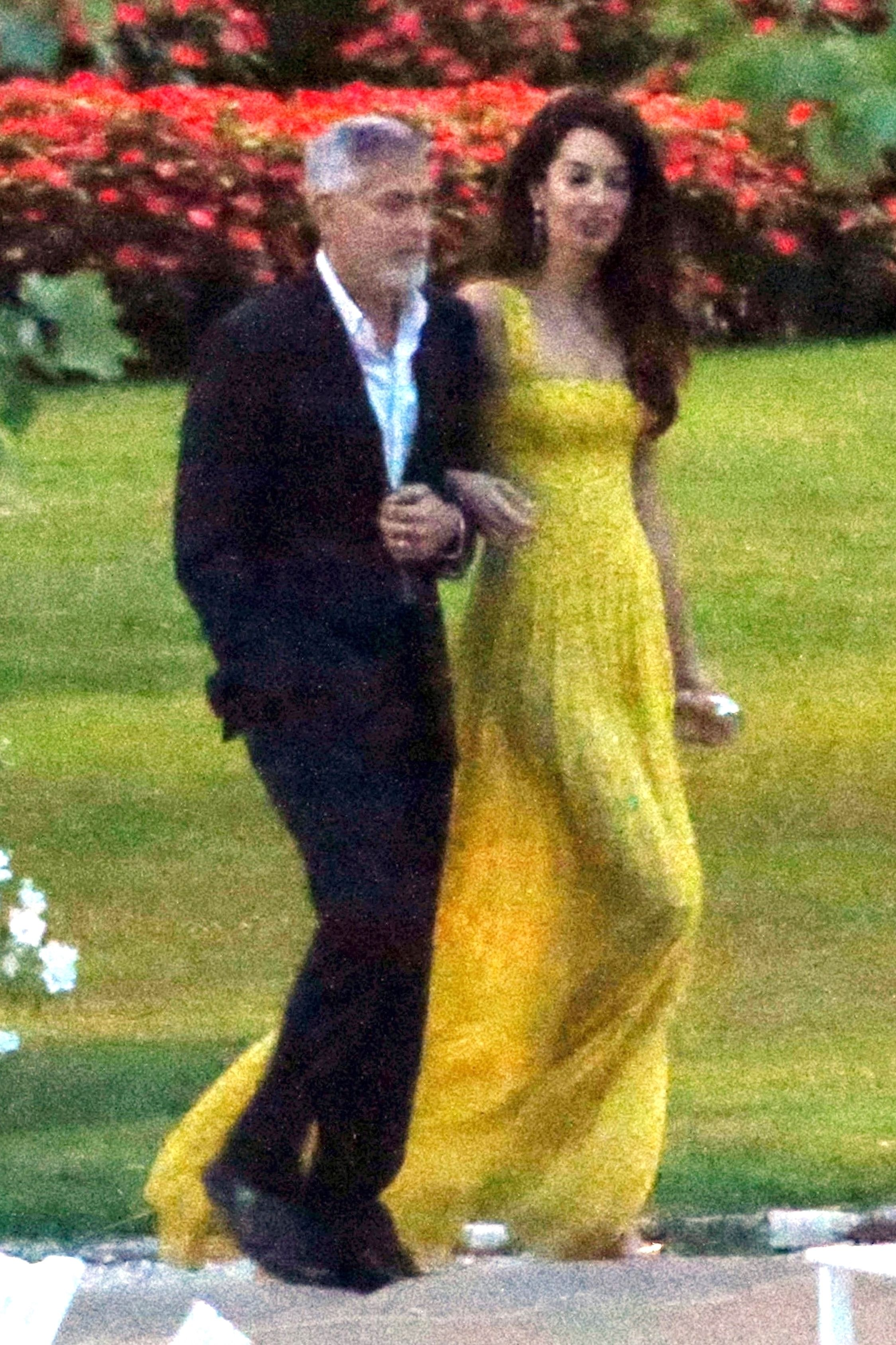 Amal Clooney Channeled Her Royal Wedding Look And Rocked