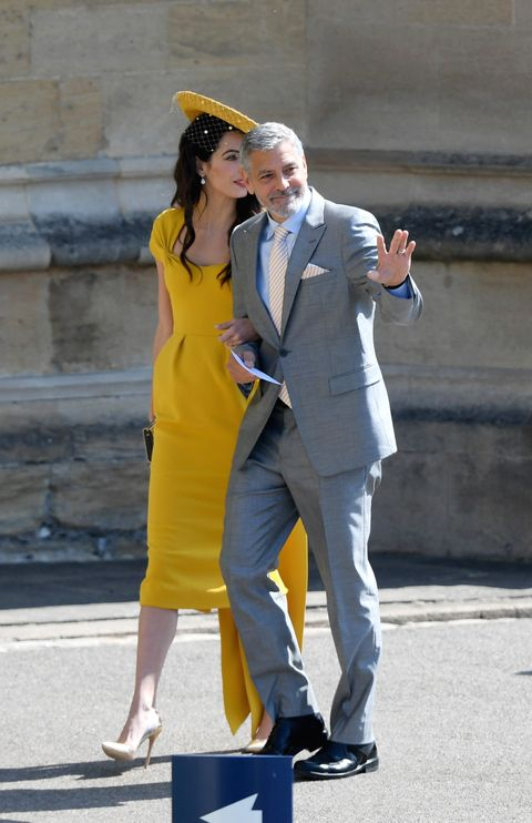 George and Amal Clooney at the Royal Wedding Hbz-amal-george-clooney-1526723182