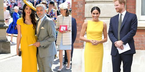 Meghan Markle Channels Amal Clooney S Yellow Dress From The