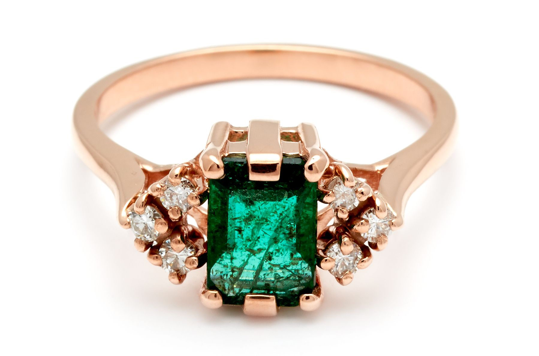 cut co ring tiffany cab platinum diamond emerald stone engagement