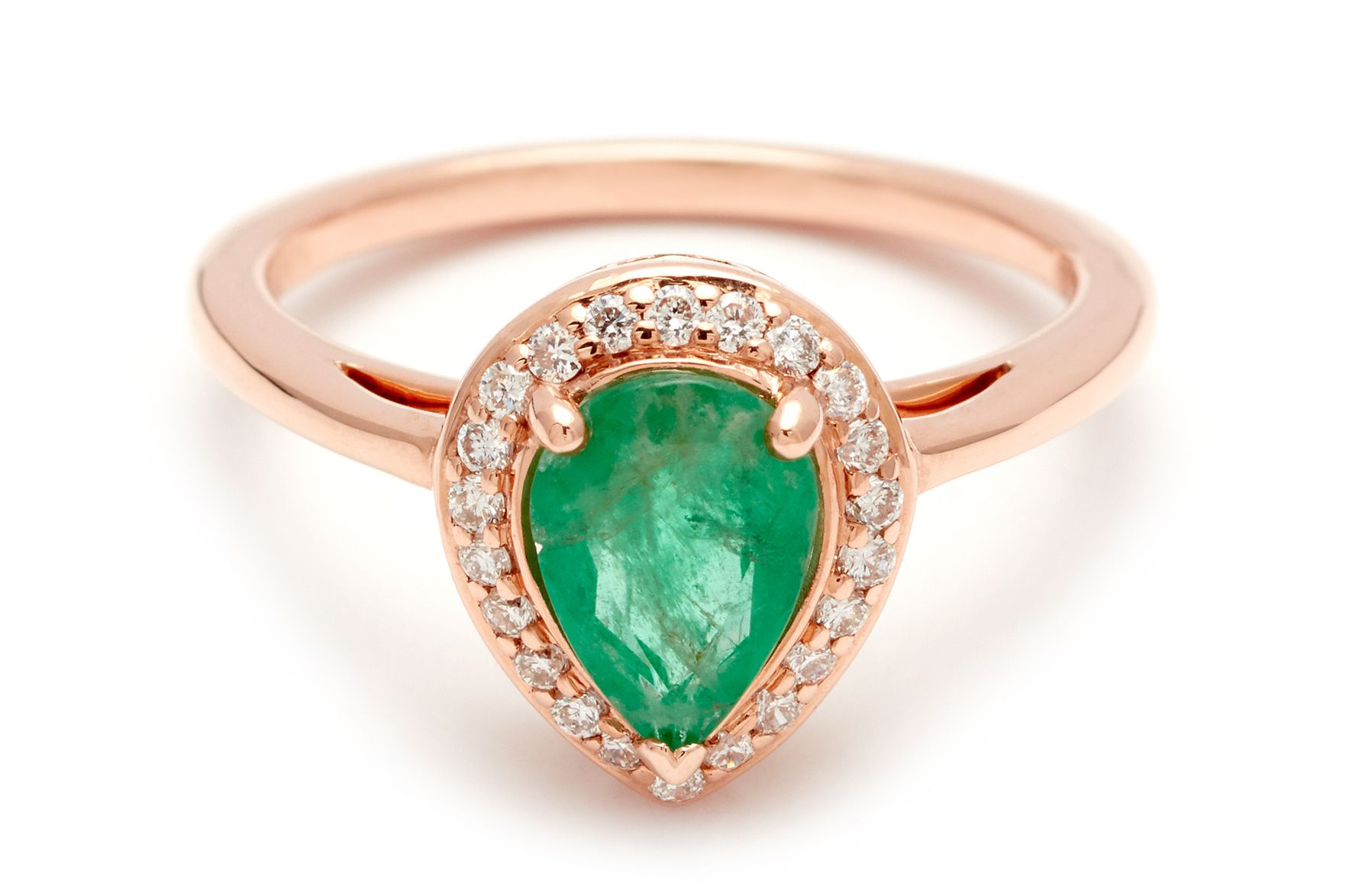 jewelry trends three ring engagement emerald pin stone cut