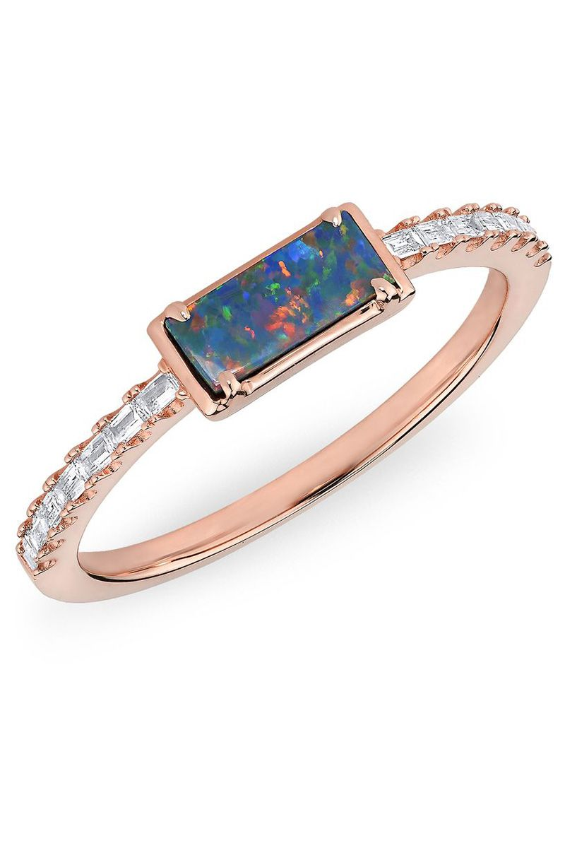 35 Beautiful Opal Engagement Rings Unique For Brides