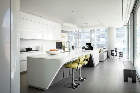 Furniture, White, Room, Interior design, Countertop, Kitchen, Property, Floor, Building, Table,
