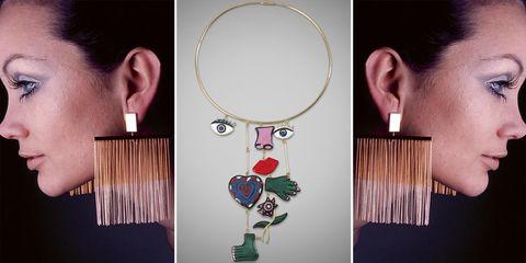 Ear, Neck, Cheek, Jewellery, Fashion accessory, Fashion, Earrings, Necklace, Illustration, Eyelash,