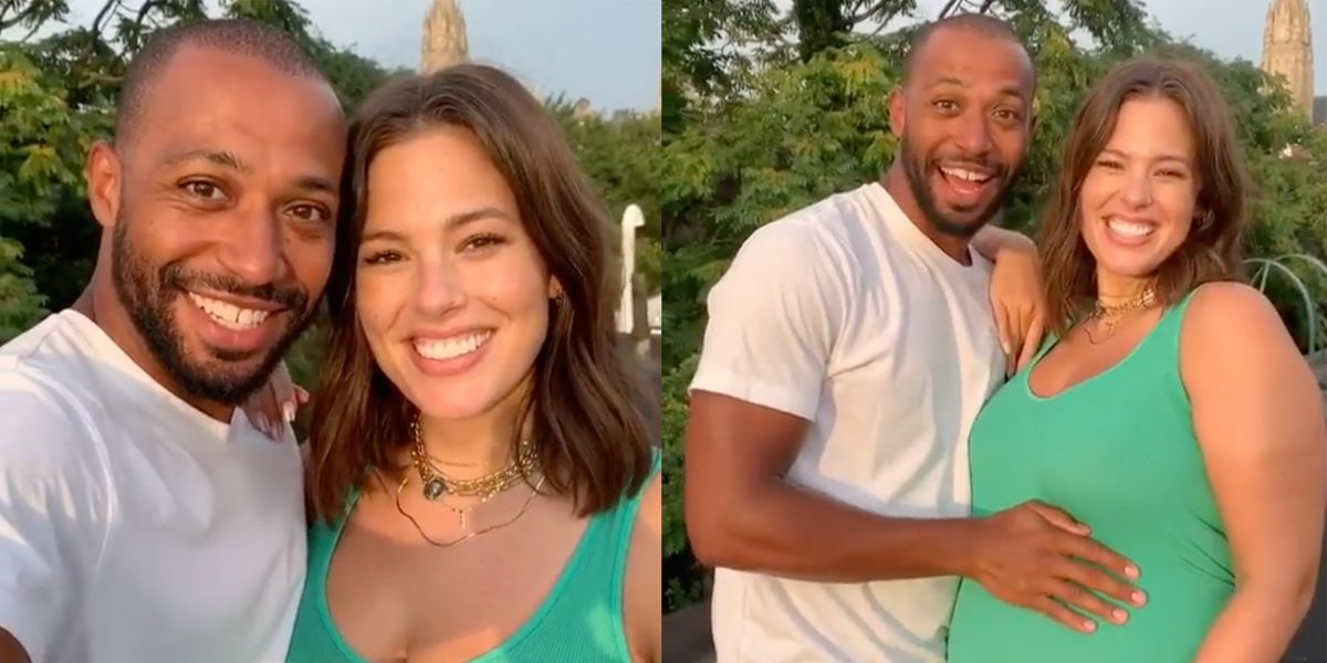 Ashley Graham Wedding.Ashley Graham Announces She S Pregnant In Instagram Video