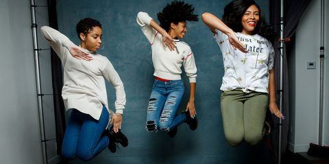 Fun, Youth, Cool, Friendship, Jeans, Gesture, Photography, Happy, Black hair, Leisure,