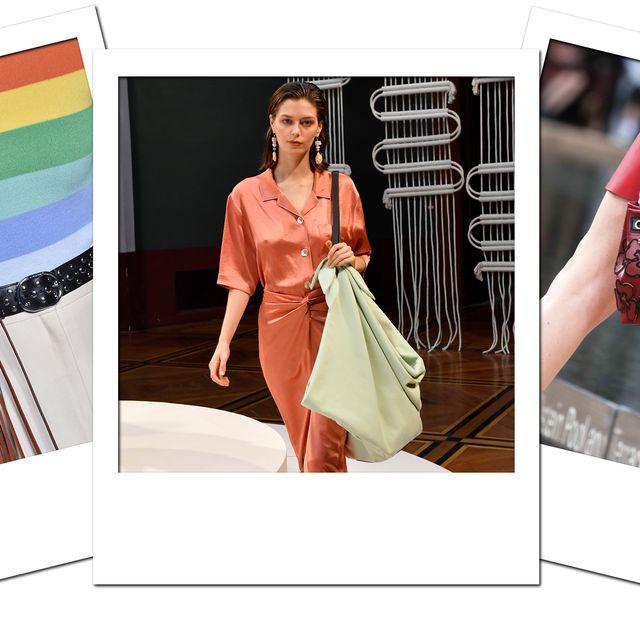 Clothing, Fashion, Dress, Fashion design, Fashion model, Outerwear, Peach, Pattern, Formal wear, Street fashion,