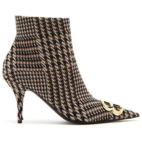 Footwear, High heels, Shoe, Boot, Beige, Leather, Court shoe, Basic pump,