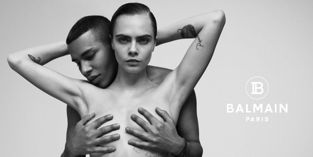 Cara Delevingne Poses Nude and Channels Janet Jackson in a New Balmain Campaign