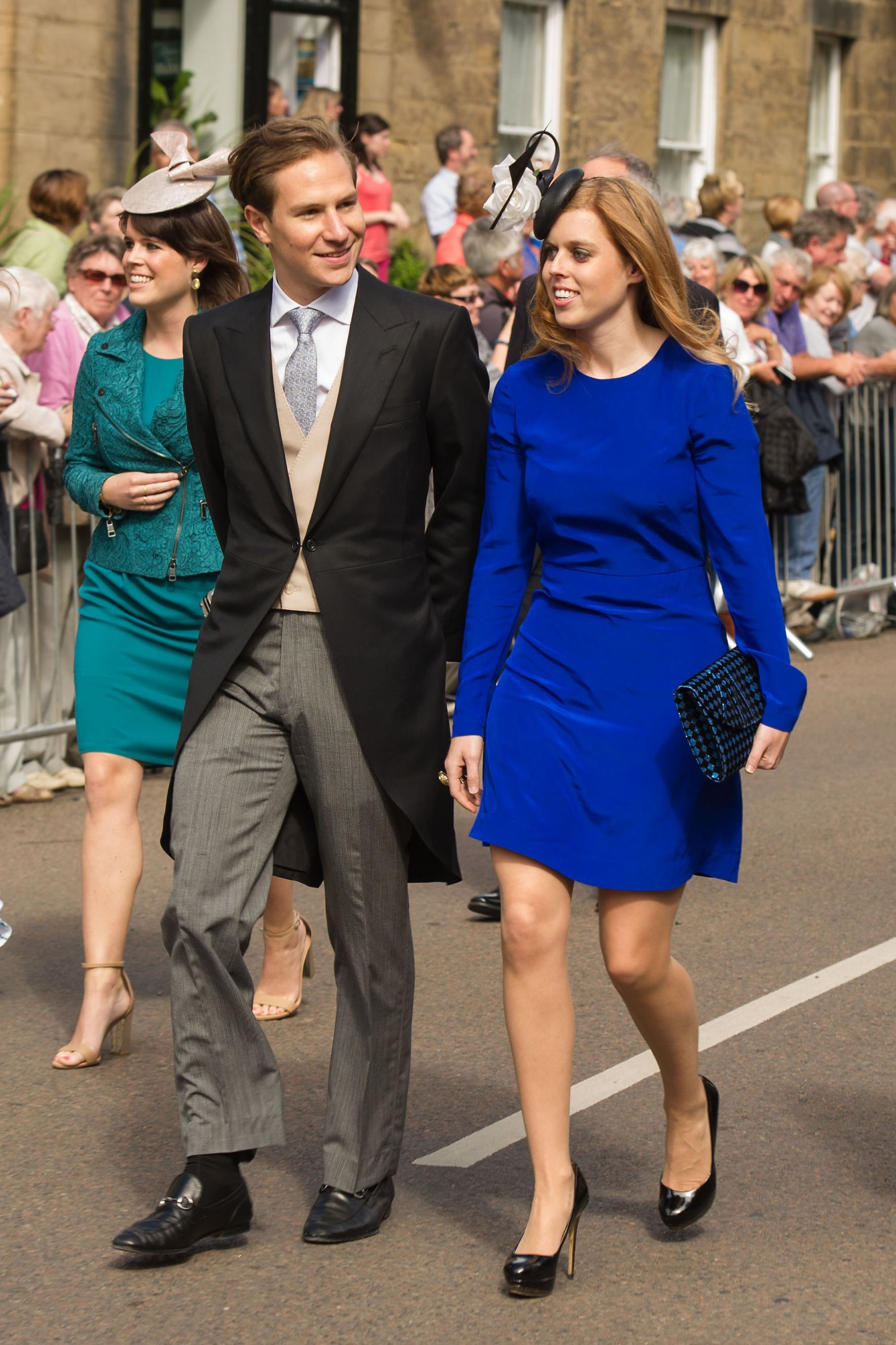 What Royal Family Wears To Weddings 42 Best Wedding Guest Looks Kate Embroidery Blouse In Blue Beatrice Clothing