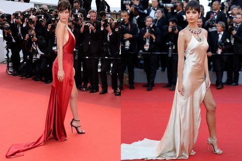 c21be0e4 Bella Hadid and Emily Ratajkowksi Wear Same Dress at Cannes - Bella ...
