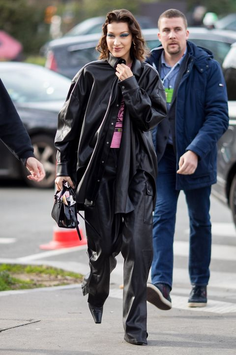 Street fashion, Clothing, Fashion, Outerwear, Leather jacket, Snapshot, Jacket, Footwear, Leather, Human,