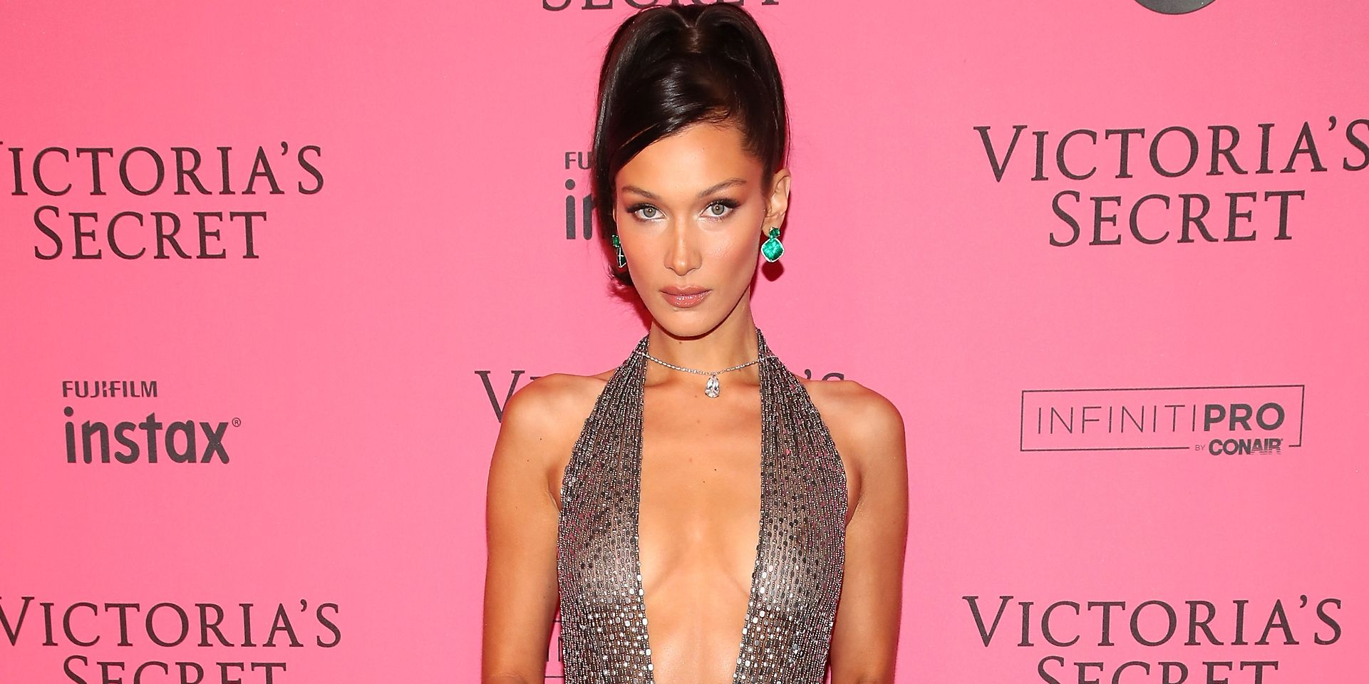 Bella Hadid Wore Not One, But Two Naked Dresses After the Victorias Secret Show