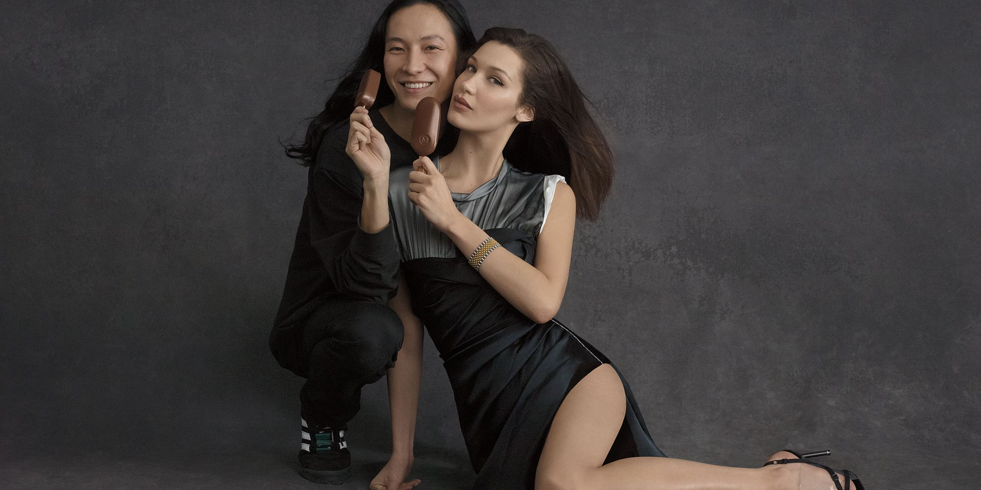 a341d31f7344 Bella Hadid and Alexander Wang Star in Campaign For Magnum Ice Cream Bars