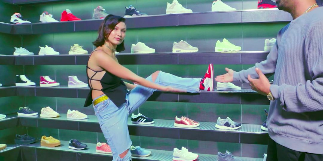 Sneakers - Bella Hadid Sneaker Shopping