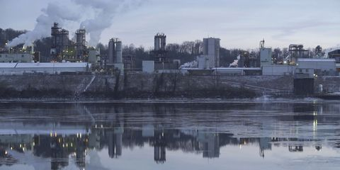 Reflection, City, Cityscape, Sky, Urban area, Metropolitan area, Skyline, Human settlement, Water, Waterway,