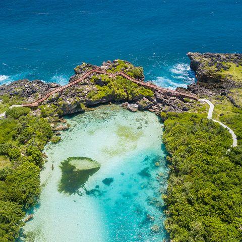 Aerial photography of Weekuri Lagoon