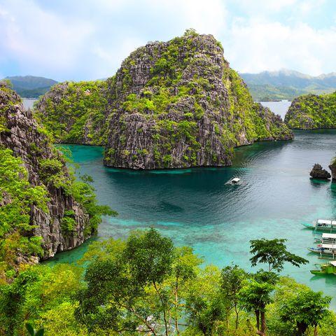landscape of Coron, Busuanga island, Palawan province, Philippines