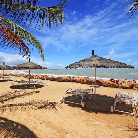 Panoramic photo of beach in Senegal