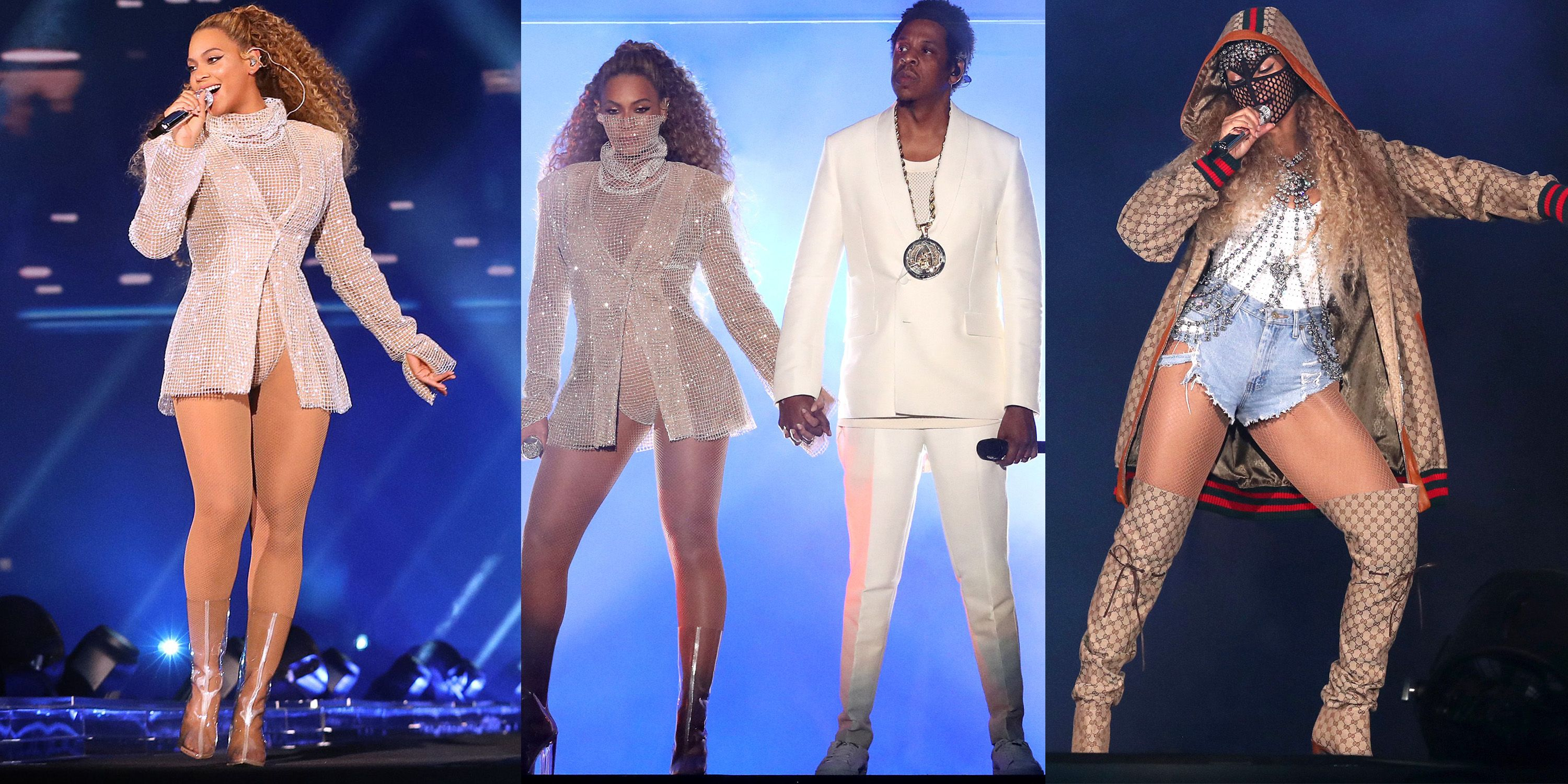 cac609c8f081 Beyoncé On The Run Tour II Outfits - Beyonce Concert Costumes On The ...