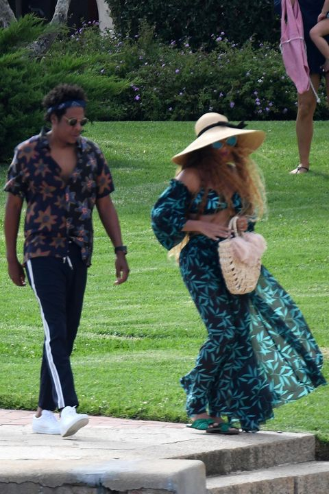 8b16d222fa492 Beyonce and Jay Z arrive at Hotel Cala di Volpe after celebrating her  Birthday
