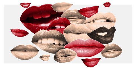 Lip, Red, Mouth, Skin, Nose, Close-up, Material property, Lipstick, Cosmetics, Jaw,
