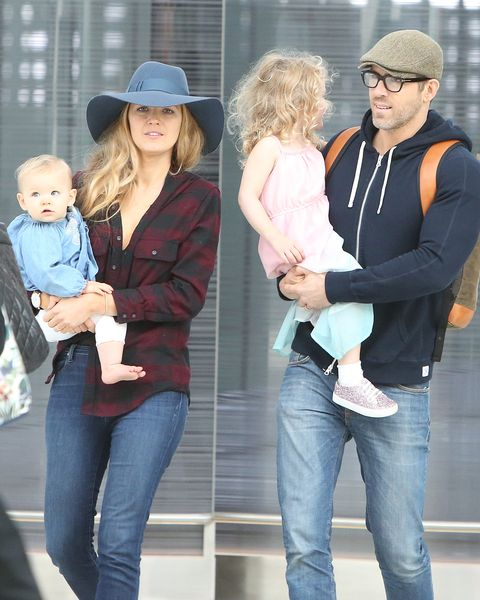 Blake Lively and Ryan Reynolds with Their Kids at the ...