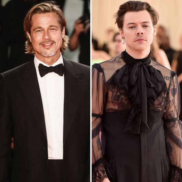 brad pitt and harry styles collage