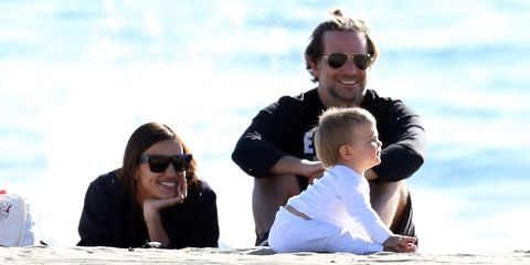 Bradley Cooper And Irina Shayk Hit The Beach With Their Baby