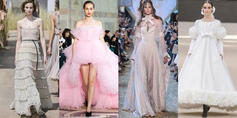 Clothing, Dress, Shoulder, Formal wear, Gown, Pink, Style, One-piece garment, Fashion model, Waist,