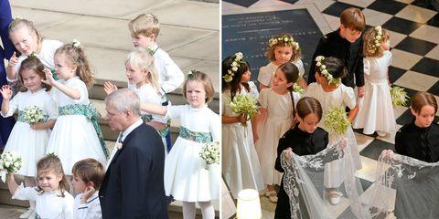 a076bd361e1d3 Princess Eugenie & Jack Brooksbank's Bridesmaids & Pageboys Compared ...